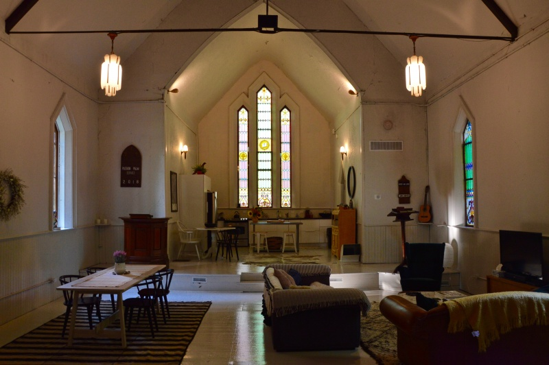 A unique place to stay, the Camlachie Chapel in Camlachie, Ontario
