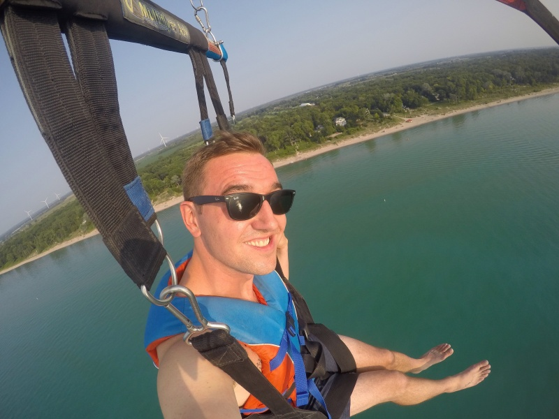 Go parasailing in Grand Bend, Ontario with Grand Bend Parasail