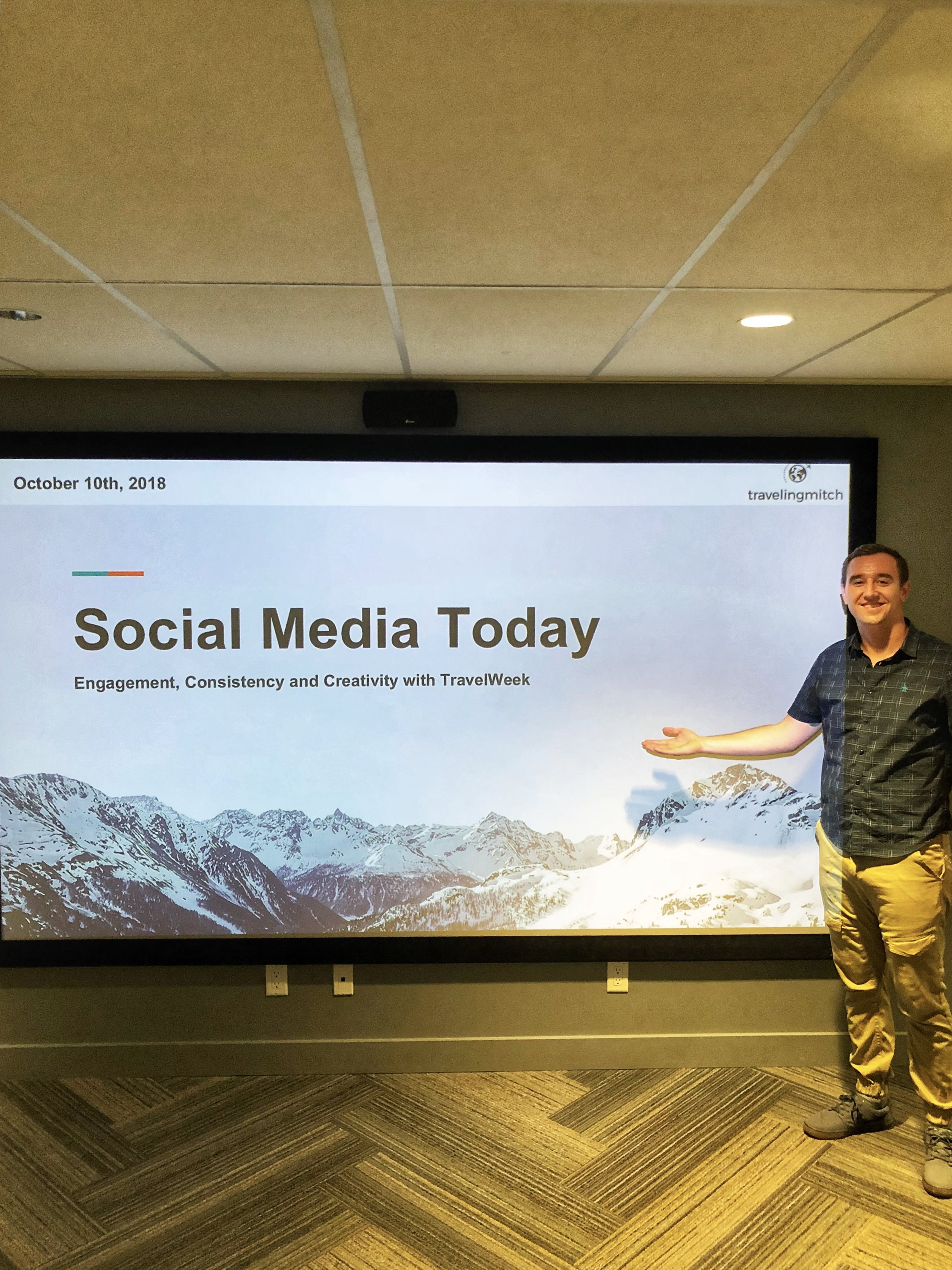 "I led this seminar on ""Social Media Today,"" which featured a comprehensive overview of modern trends on Instagram, Twitter, Facebook and the like."