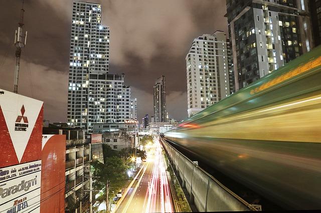 BTS Skytrain in Bangkok, Thailand. Bangkok in 24 hours.