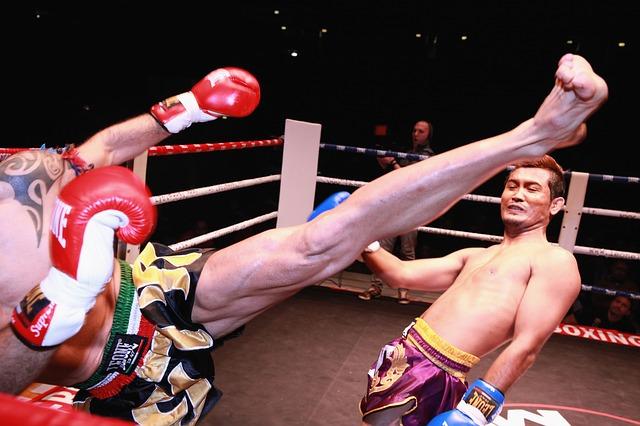 Muay Thai is very popularin Bangkok, Thailand