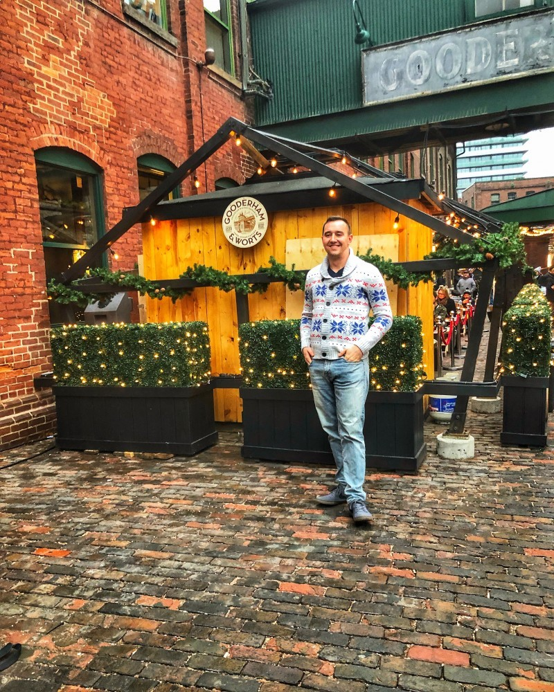 The Christmas Market in the Distillery District is a must visit during winter in Toronto