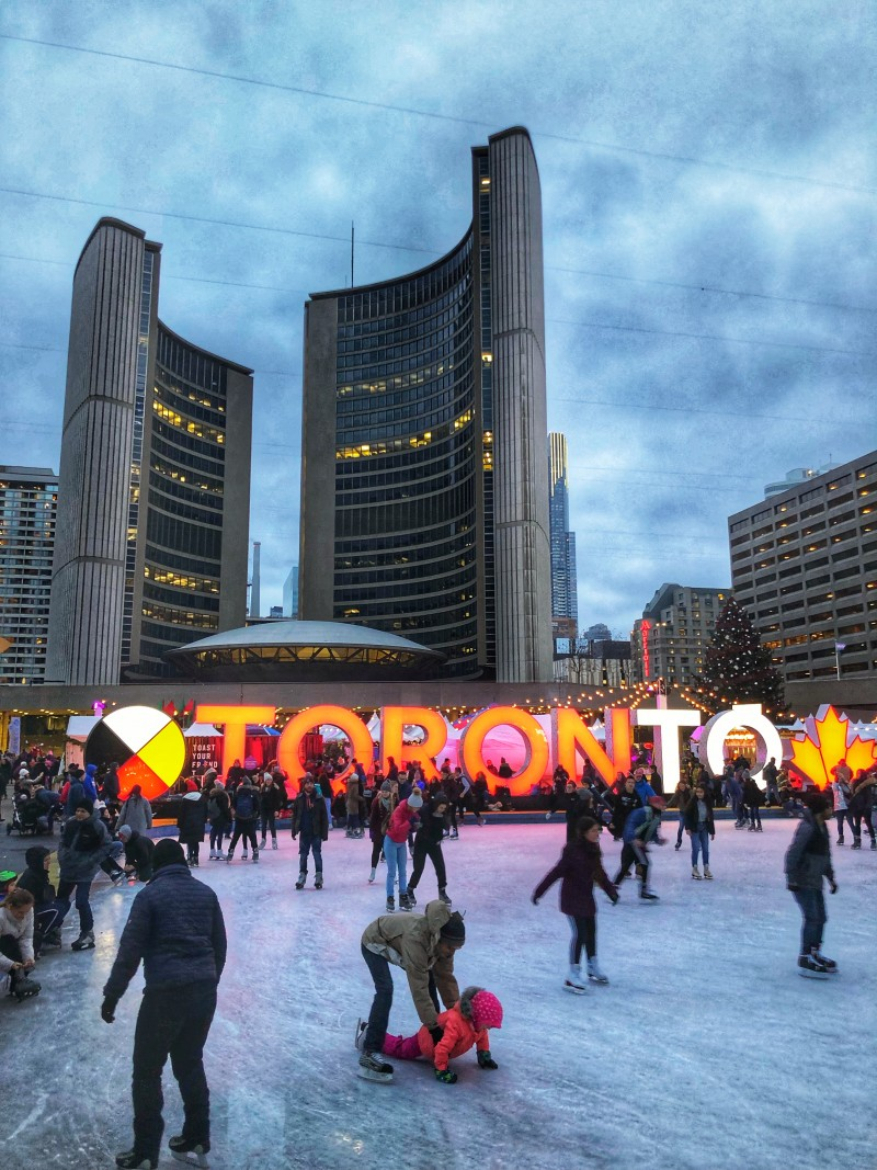 You can head to the Holiday Fair at Nathan Phillips Square, but you can also just go ice skating at Nathan Phillips Square