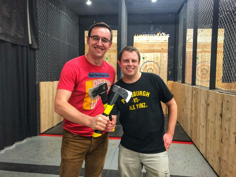 I loved throwing axes at Lumberjaxes in Tempe, Arizona! It's definitely one of the fun things to do in Tempe!