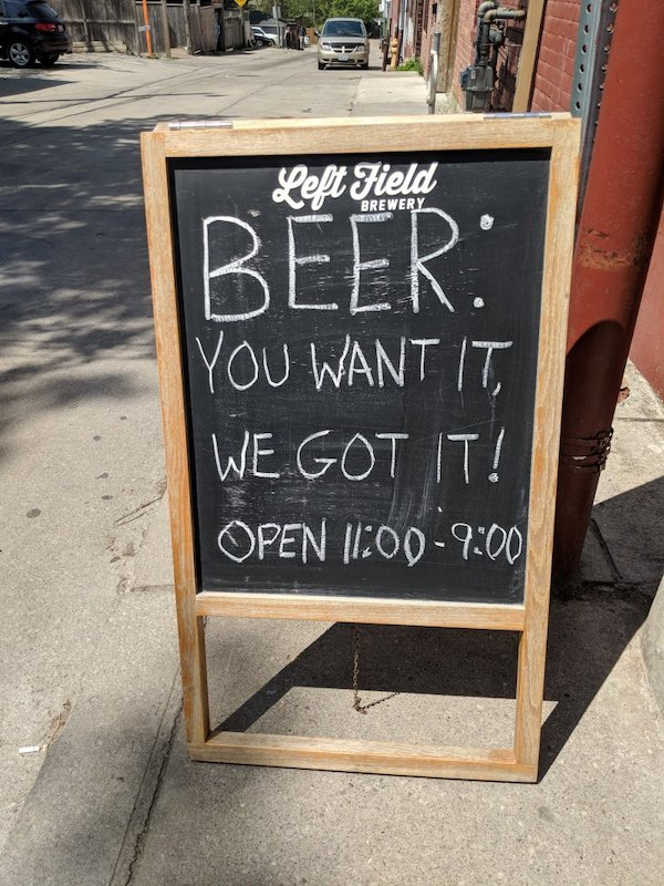 Head to Left Field Brewery is you're trying to get your hands on the best craft beer in Toronto, and one of the top Toronto breweries.