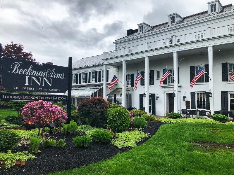 The Beekman Arms - Delameter Inn is one of the most iconic buildings in Rhinebeck, NY, a great New York getaway