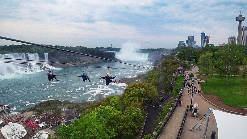 Take the zipline to the Falls when you're thinking about what to do in Niagara Falls, Canada!