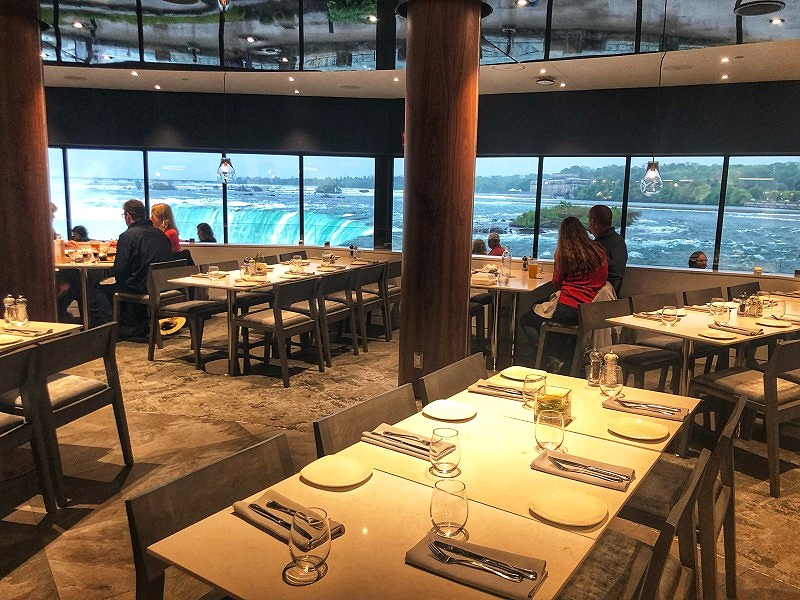 The new Table Rock House Restaurant in Niagara Falls is a good spot to go if you're looking for what to do in Niagara Falls, Canada