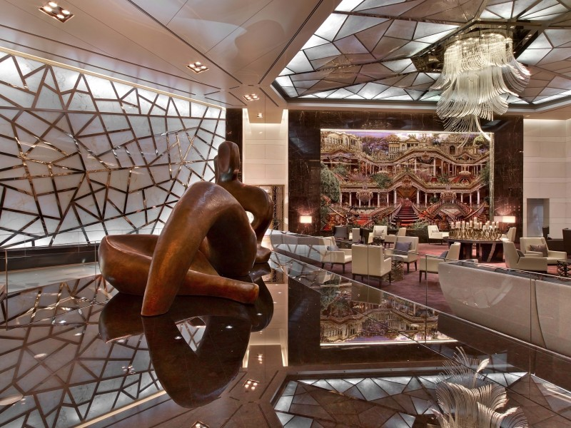 The Raffles Istanbul lobby is part of one makes it one of the best hotels in Istanbul