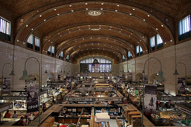 The West Side Market in Cleveland is a pace you absolutely need to visit. It's one of the fun things to do in Cleveland, Ohio.