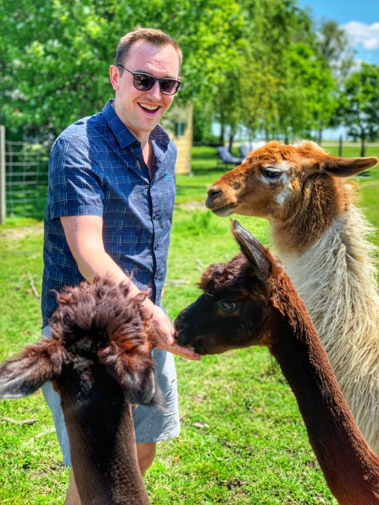 SAMY's Alpaca Farm & Fibre Studio outside Strathroy, Ontario is a must visit on your Ontario weekend getaway,