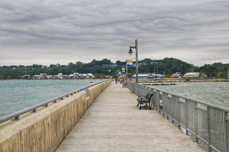 The Port Stanley Pier and Lighthouse are part of what makes Port Stanley one of the most scenic places in Ontario
