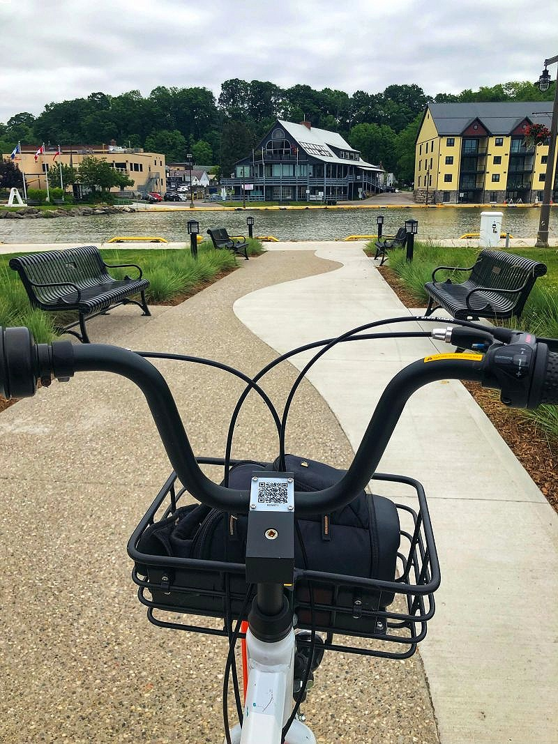 The Ride Elgin Bike Share is a good way to see Port Stanley, Ontario in Elgin County