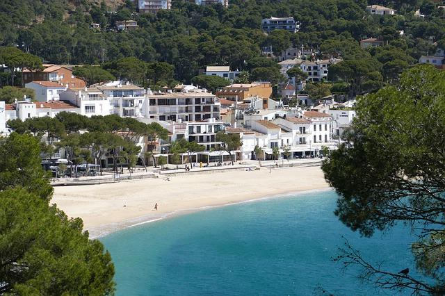 Overlooking a beach in Costa Brava, Spain