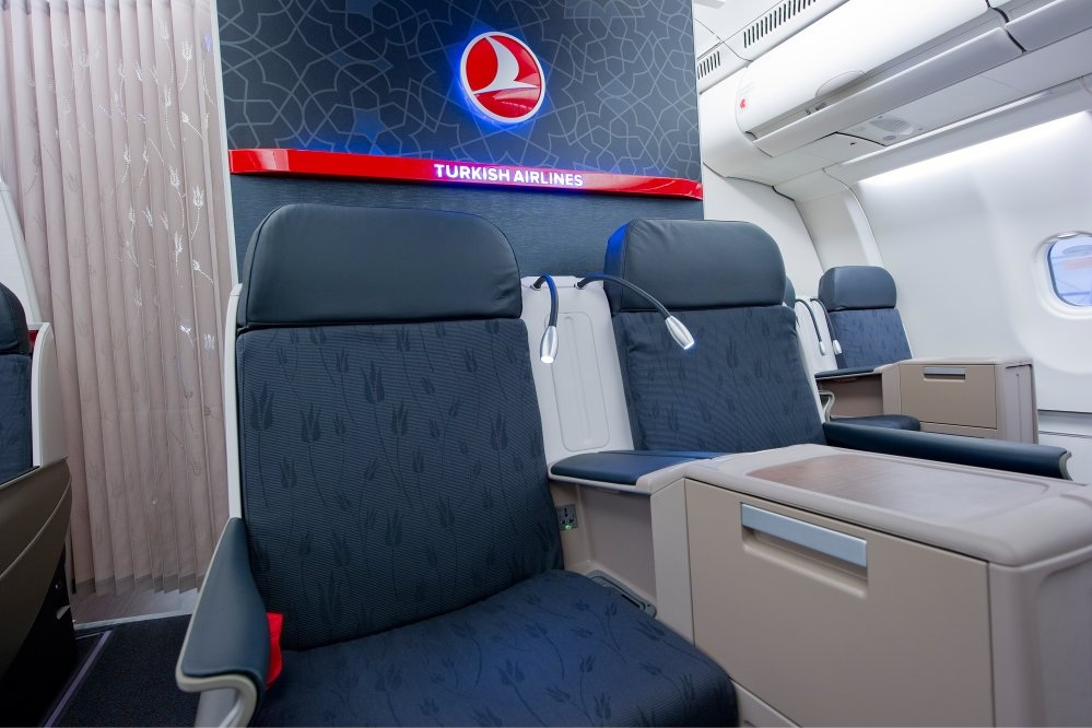 The Turkish Airlines Business Class seats are top-notch, and part of the Turkish Airlines Business Class Experience.