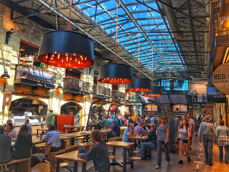 The Forks Market in Winnipeg, Manitoba is one of the top places to visit in Winnipeg!