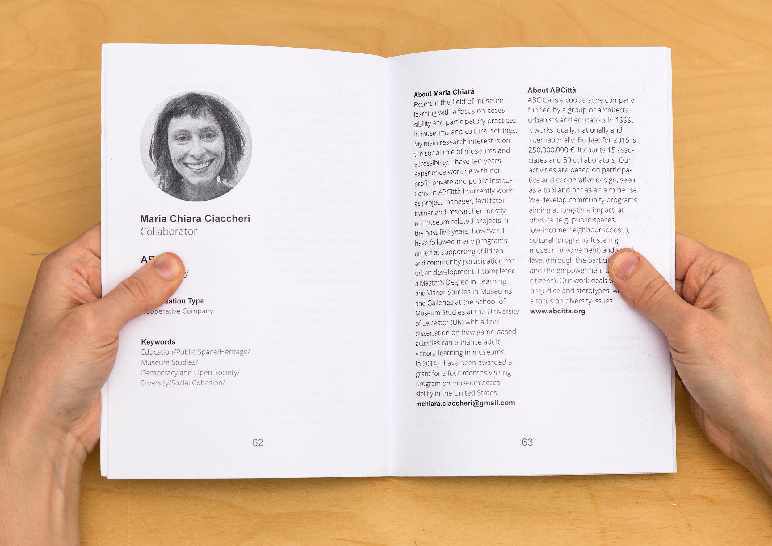 Event handbook design concept