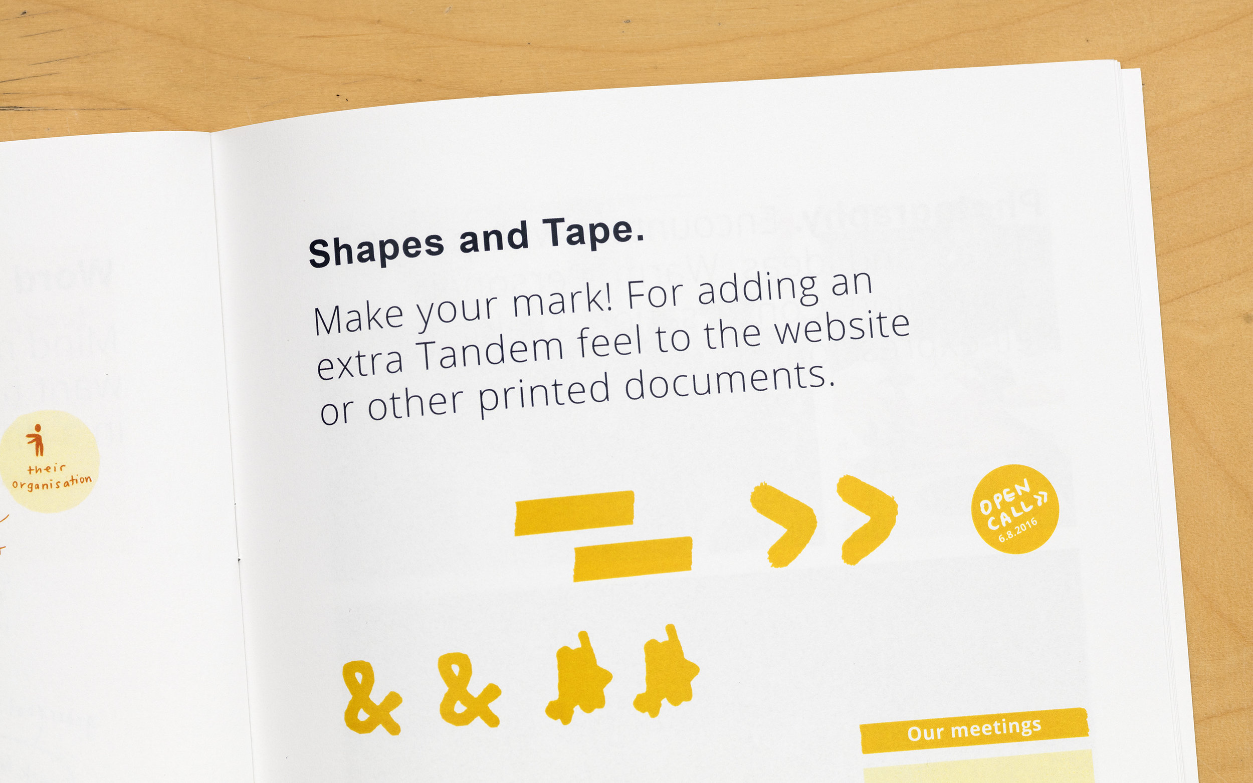 Implementation - We designed tools based on Tandem's new visual identity, including a booklet about the Tandem process, infographics, and postcards. Our last phase was gathering additional feedback and making adjustments.