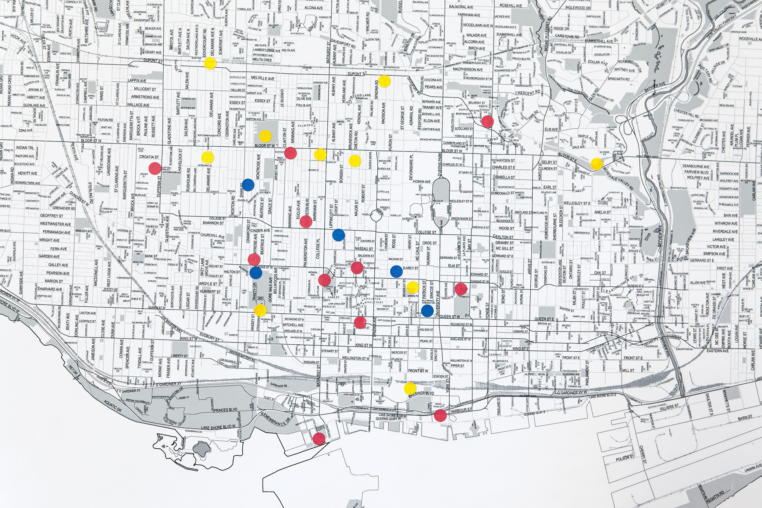 Marketing meaningful places on a map