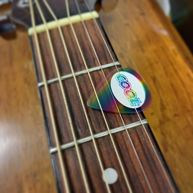I always try and give a guitar pick to musicians I work with. A few weeks back I was given this one by @stelllla.rose and I'm glad to use it this week at #Just5Days in Michigan!