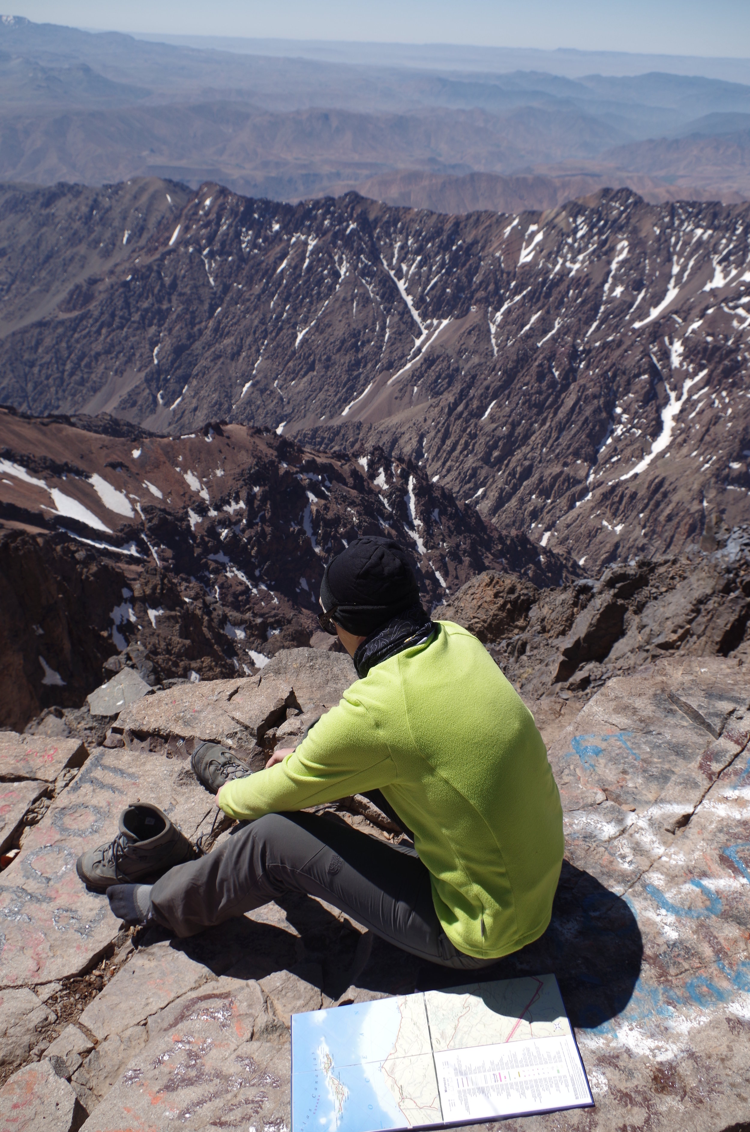 Toubkal, az Atlasz-hegység csúcsa, 4282 m