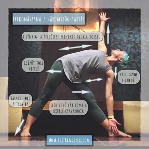 Trikonaszana jóga futóknak