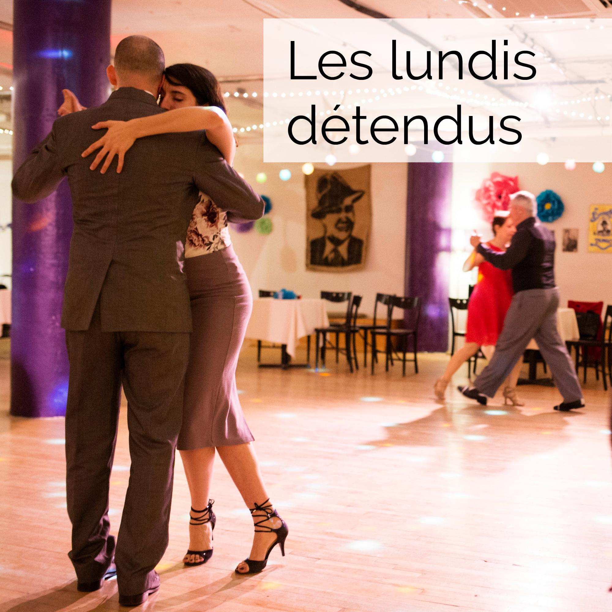CHAQUE LUNDI SOIR DE20 H 30 à MINUIT - Le prix d'entrée est de 8 $ à la porte (taxes incluses) (sauf lors d'événements spéciaux)L'ambiance est détendue, intime, avec tout l'espace souhaité pour danser!Assistance moyenne : 45 personnes
