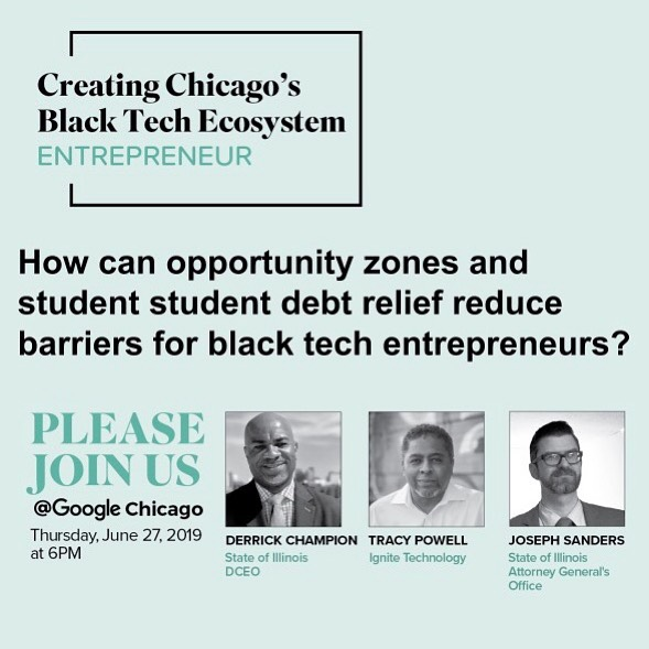 Our research findings suggest that enhancing geographical access to entrepreneurial resources and relieving student loan debt are promising avenues to leveling the playing field for Black tech entrepreneurs. These leaders discussed how they are driving progress on both these fronts and how you can support their efforts.  #CHIBTE19 #SmartBTE