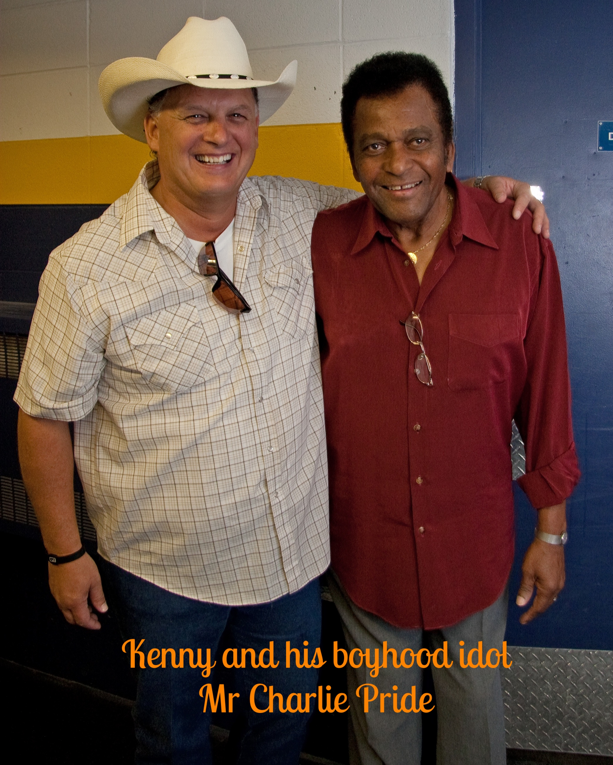 Kenny with a childhood hero Charlie Pride