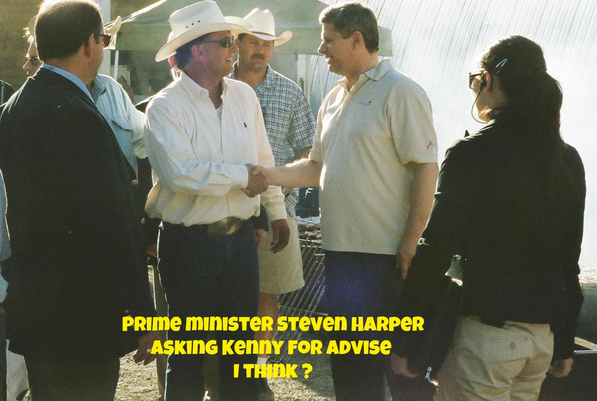 Kenny with Prime minister Steven Harper
