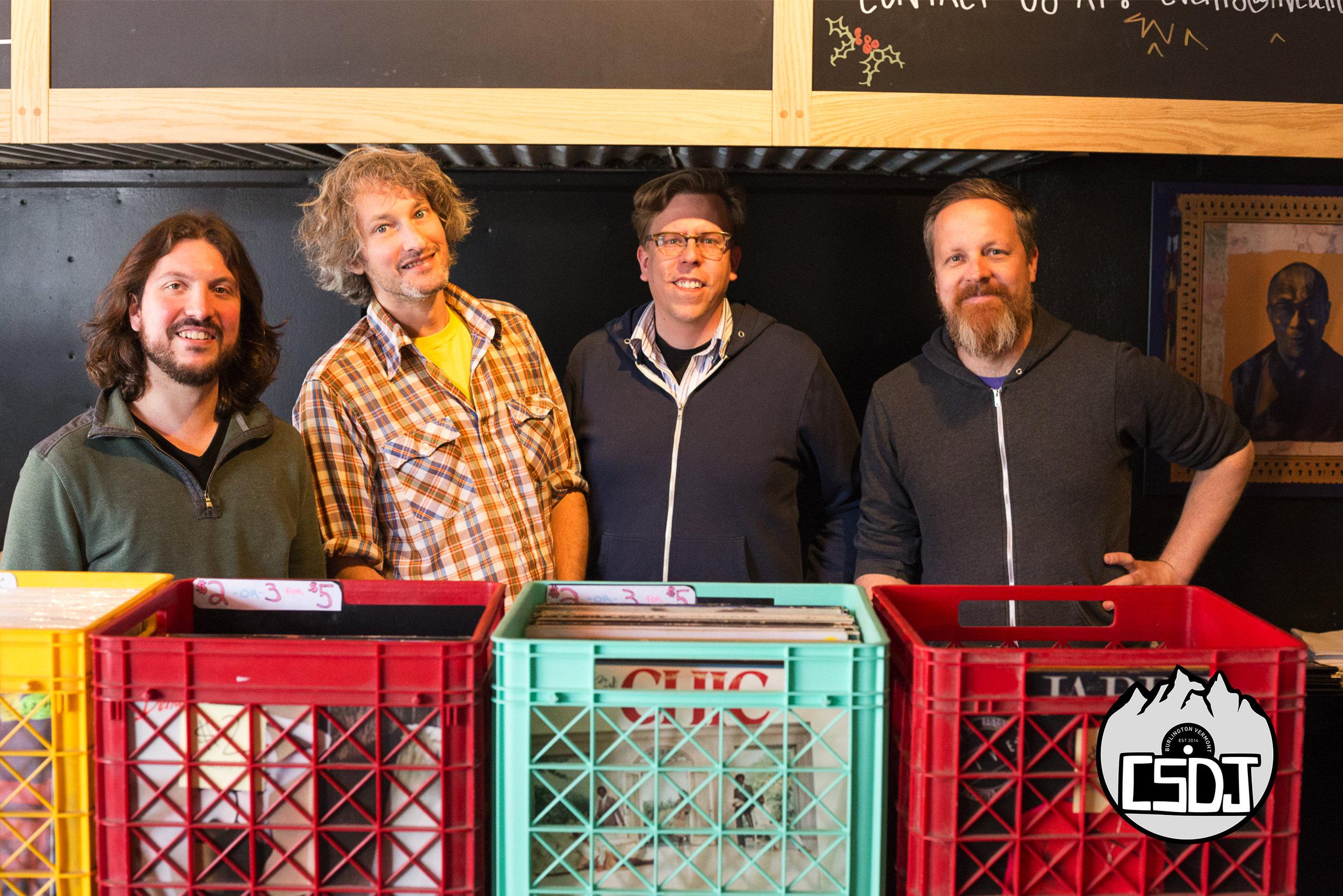 Left to right: Ian Doerner, Evan LeCompte, Matt Kloss and Greg Davis