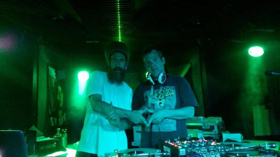 Left: DJs Jahson and Big Dog