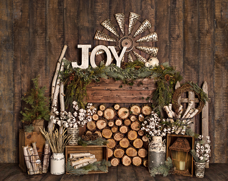 Christmas backdrop rental