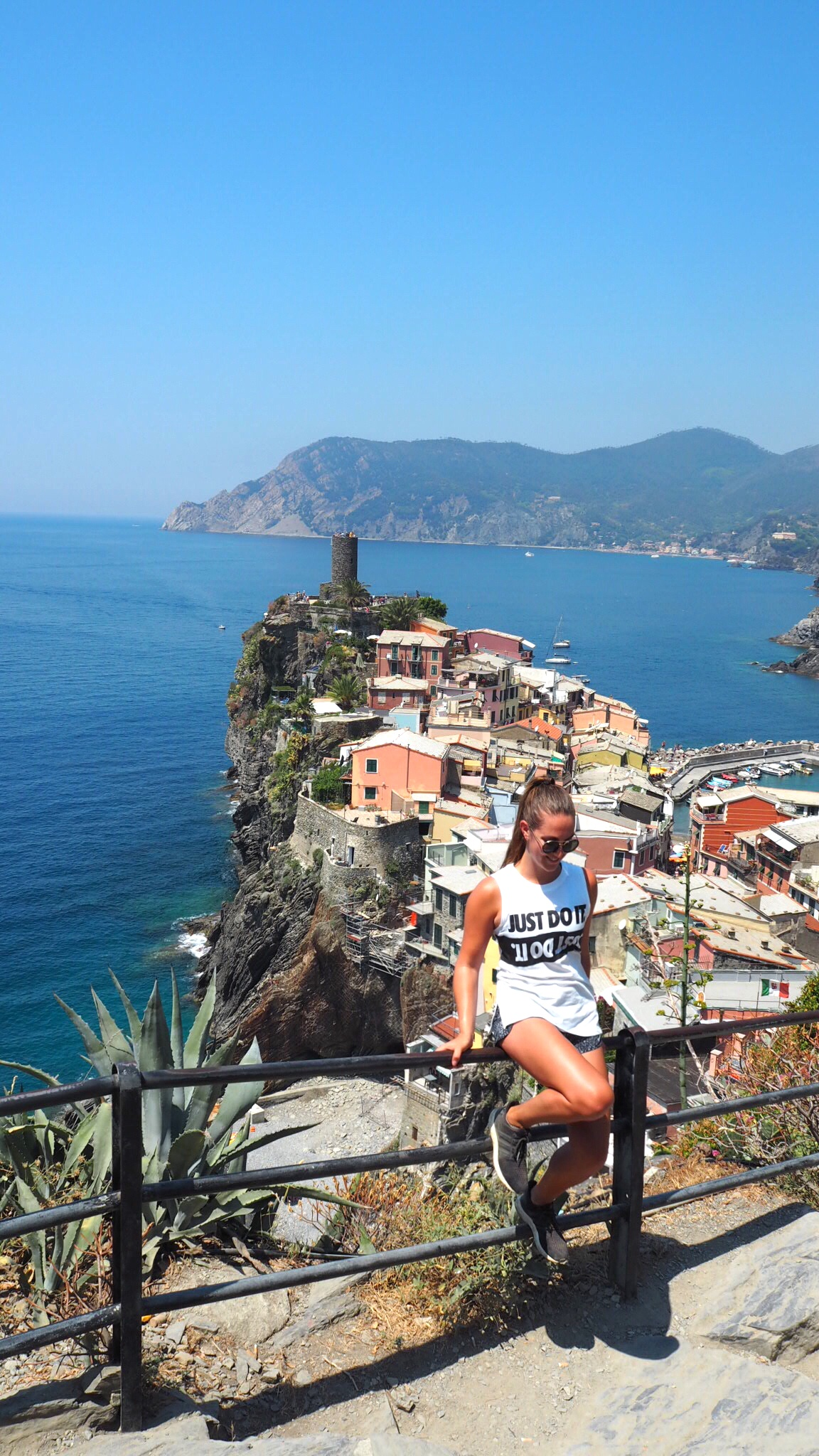 View back towards Vernazza