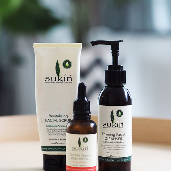 Sukin – Australian Natural Skincare range. Which as you can see, has been VERY well used!