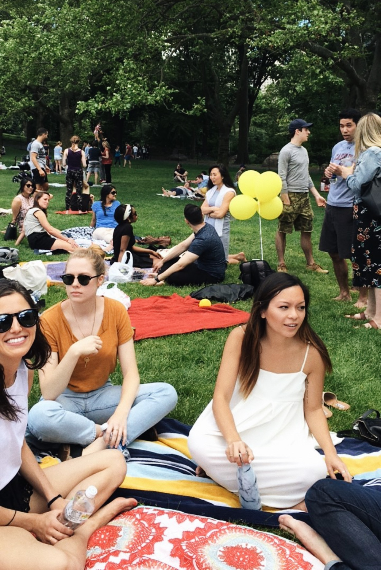 Meredith's church was having a get-together in Central Park.Pictured here is me blending in with the locals - which now includes me!
