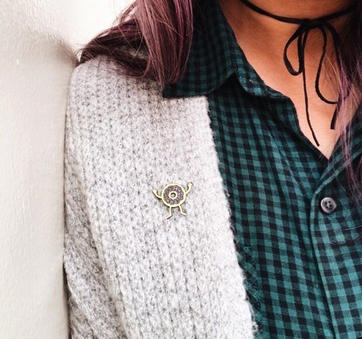 This little guy made it to my cardigan the other day and I got so many compliments on him. Photo taken from my insta: @TheFabJunkie
