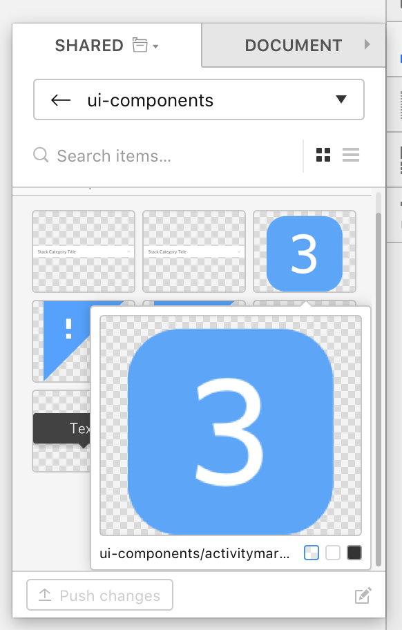 Inserting from the Craft Library panel in Sketch. (Either way works)