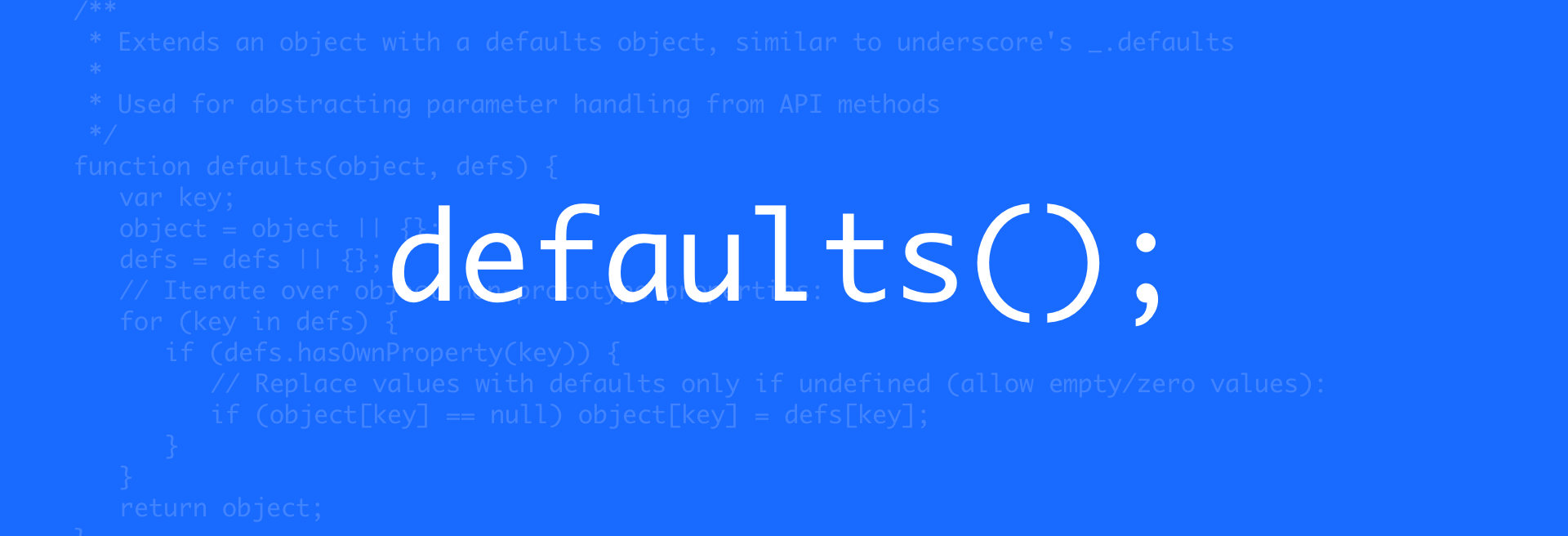 javascript-defaults