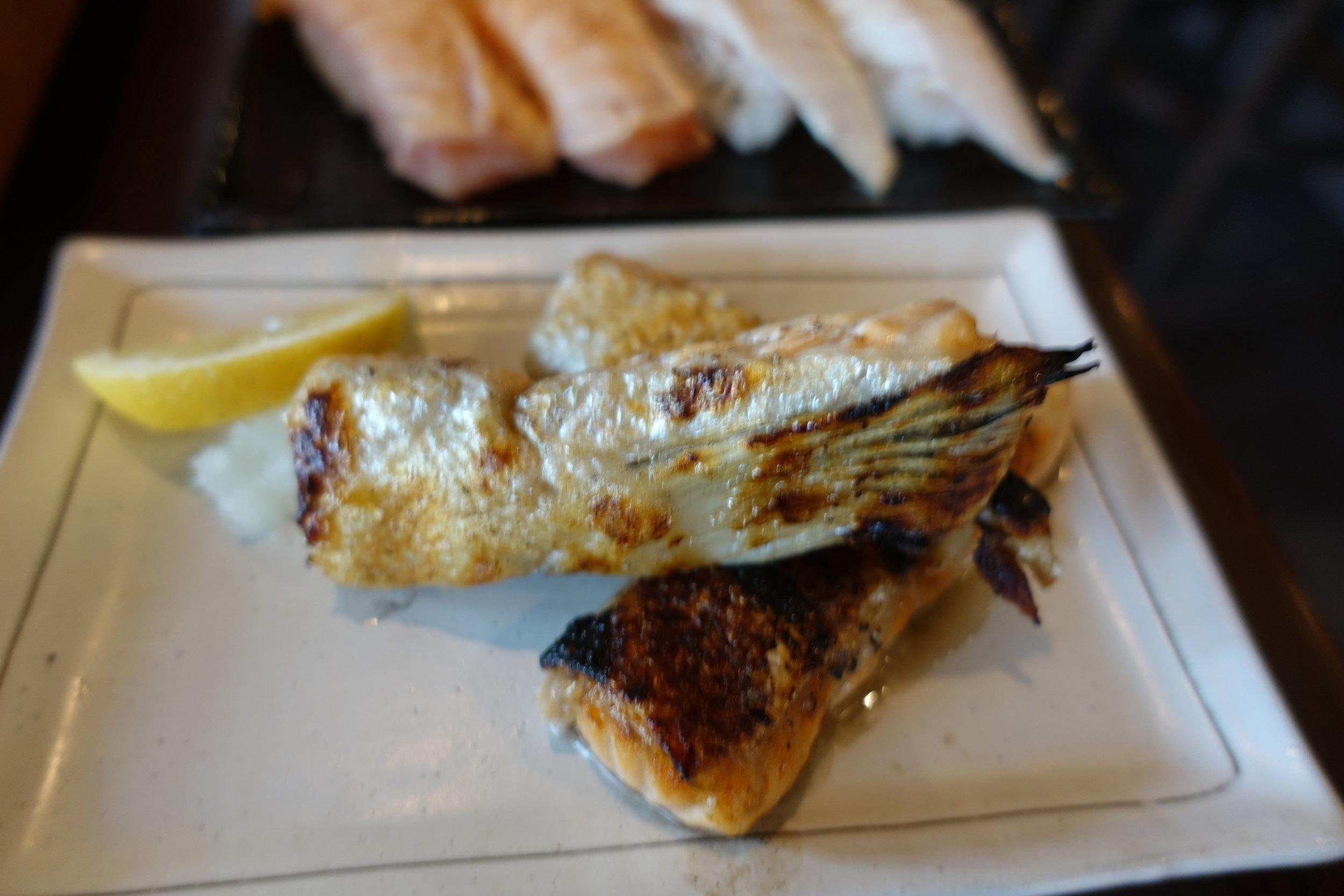 Bbq salmon belly