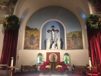 St. Peter Claver Worship Site  at Christmas 2017