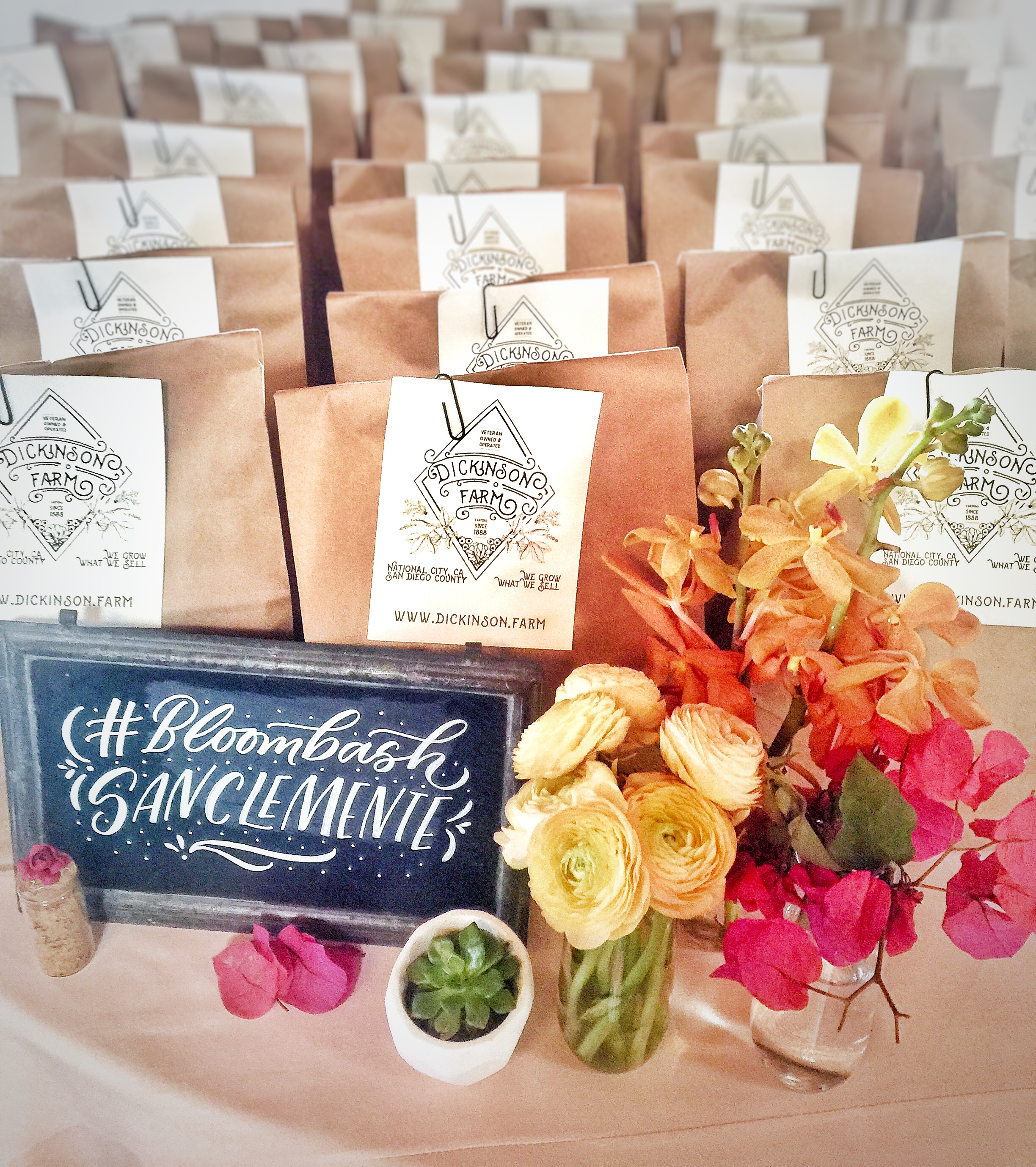 Dickenson Farms    provided fresh and organic lunch bags. This 100% Veteran owned small farm is located in National City, CA. Their market is registered organic and grows naturally & chemically free.
