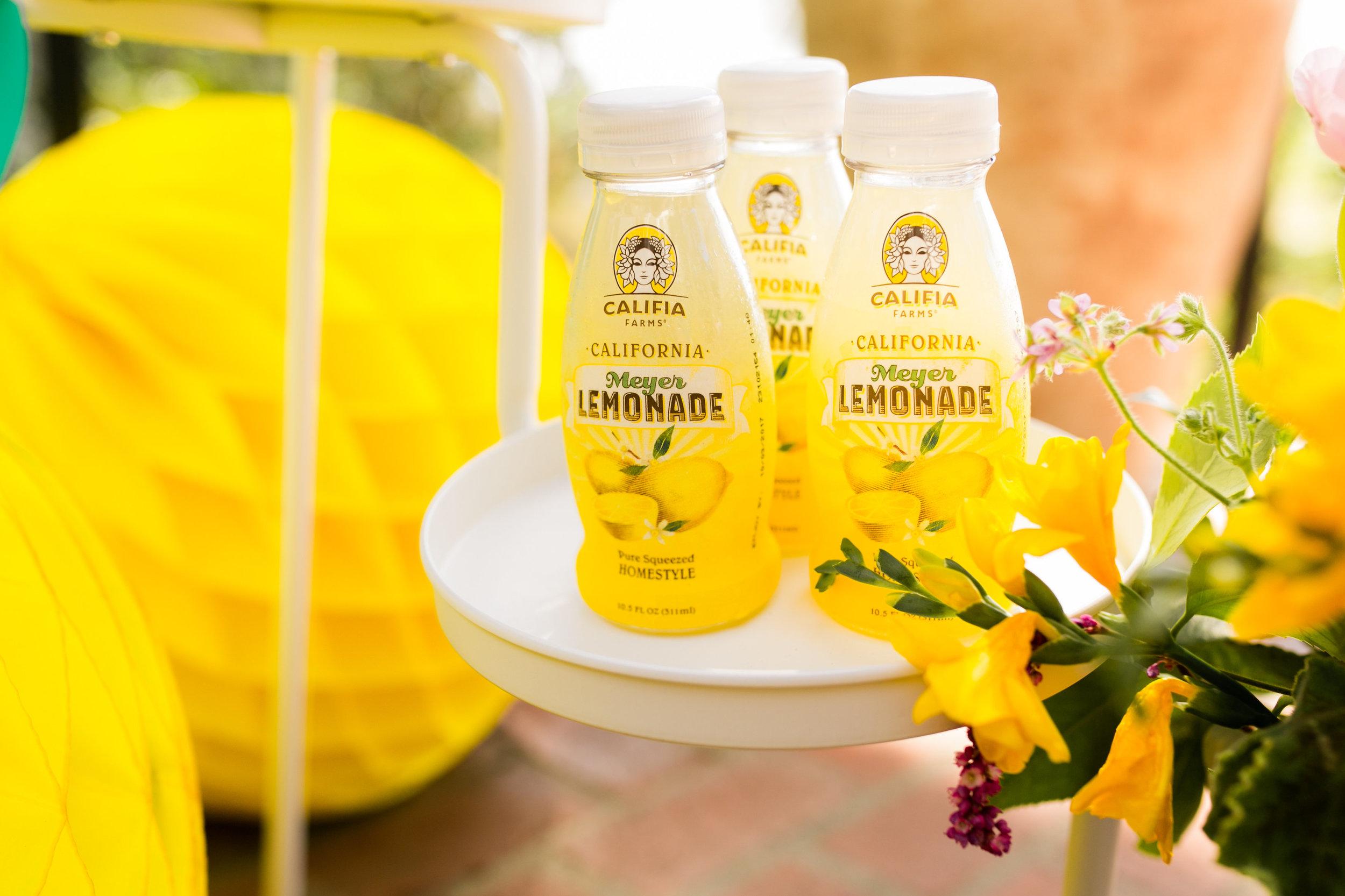 Lemonade Kids Birthday Party - Lemonade provided by Califia Farms