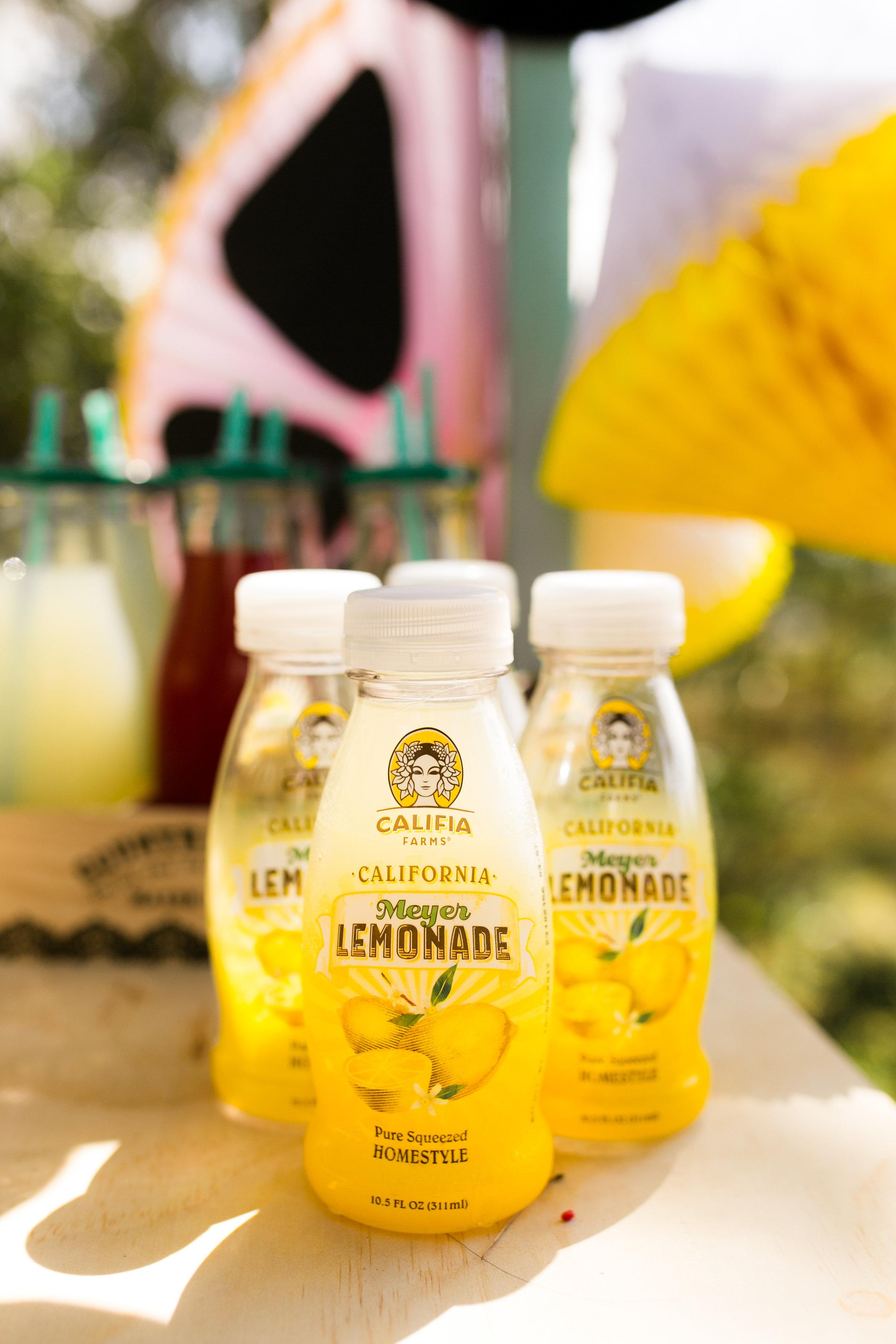 Lemonade Stand Kids Birthday Party - Lemonade provided by Califia Farms