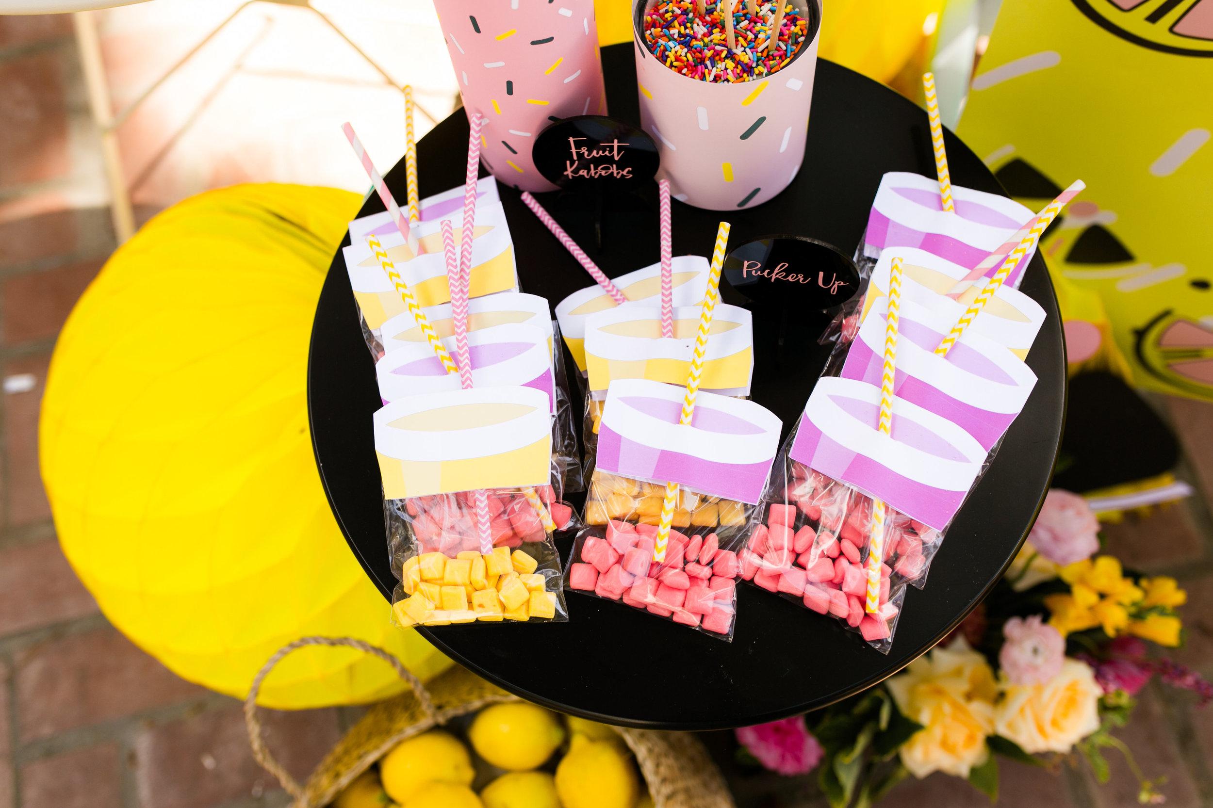 Lemonade Kids Party Favors - Lemonade Candy bags