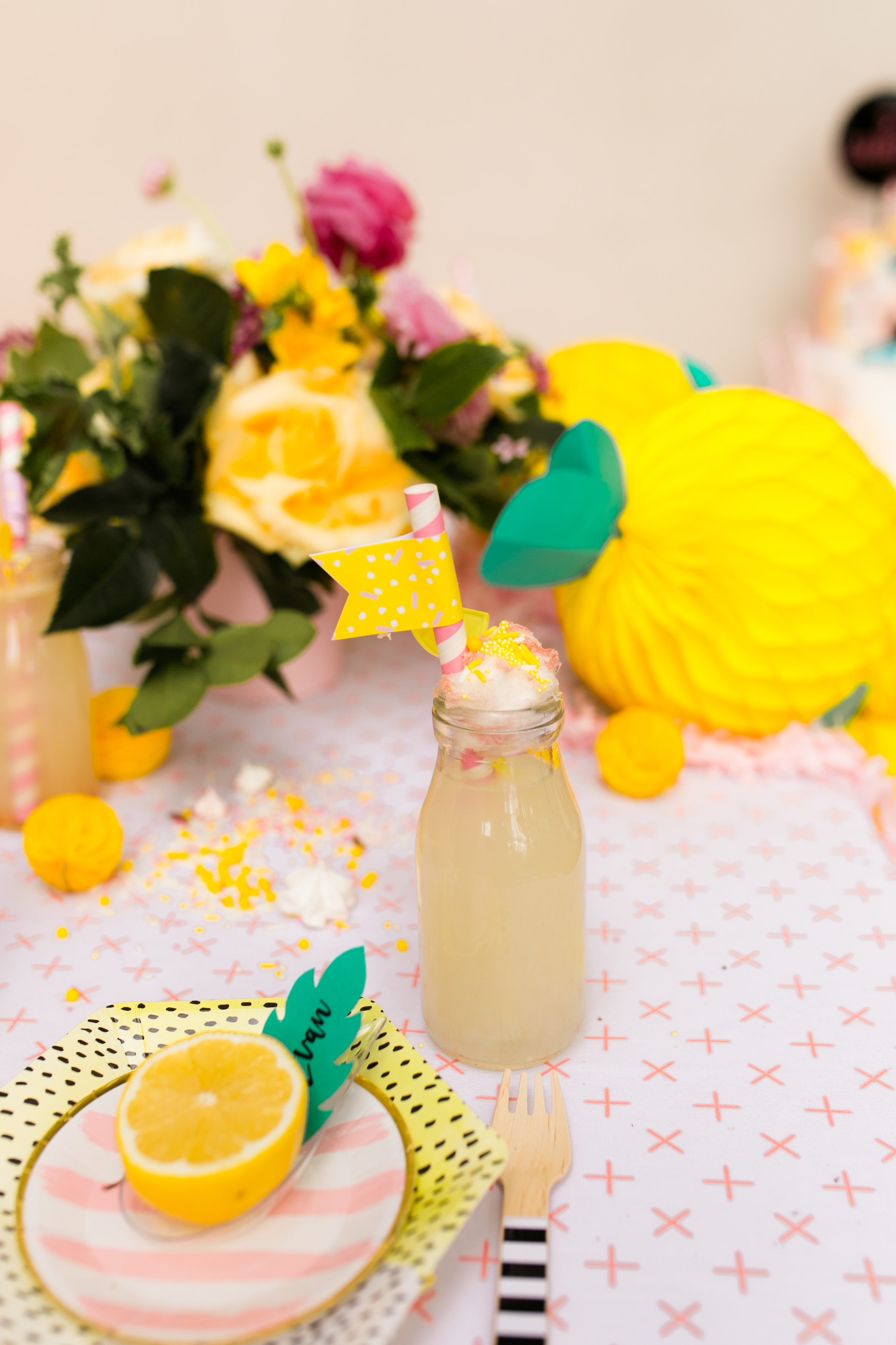 Lemonade Birthday Party -Tabletop Decor