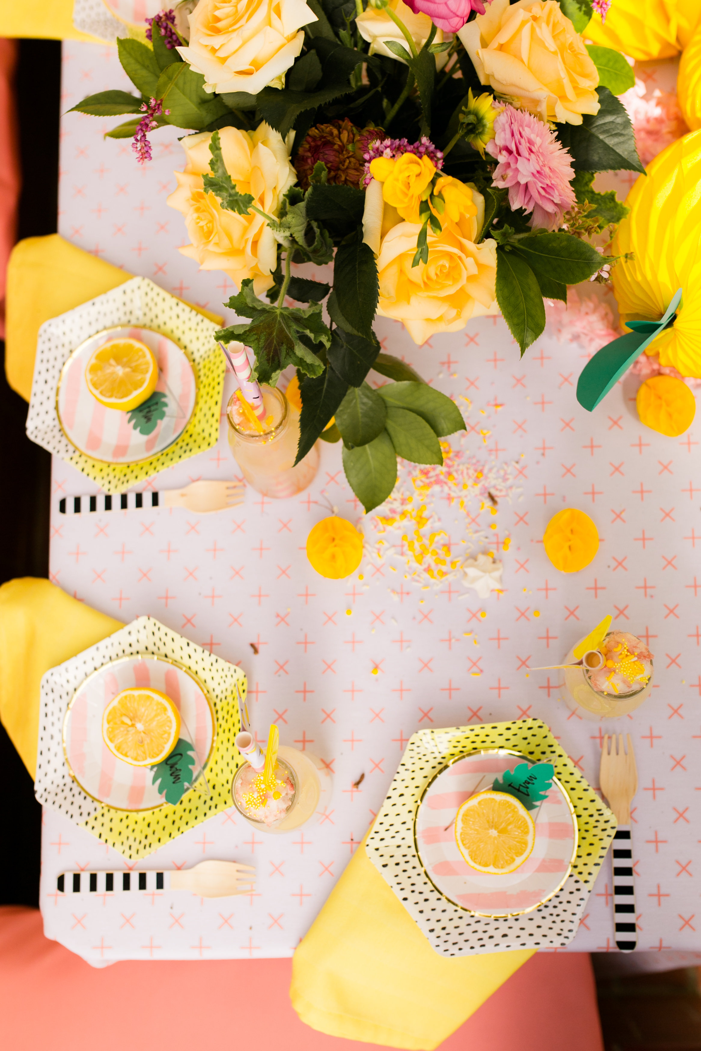 Lemonade Birthday Party - Tabletop Kids Decor