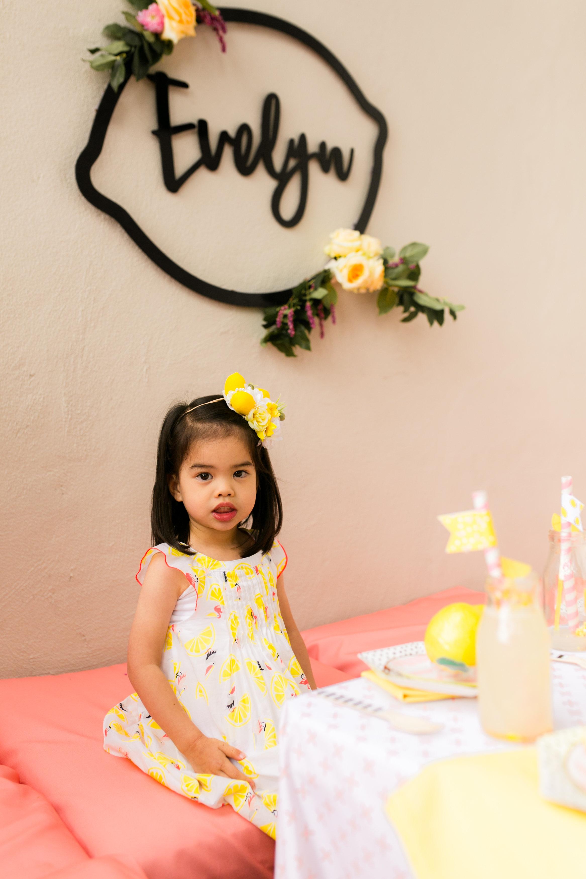 Lemonade Little Girls Birthday Party - Girls Party dress