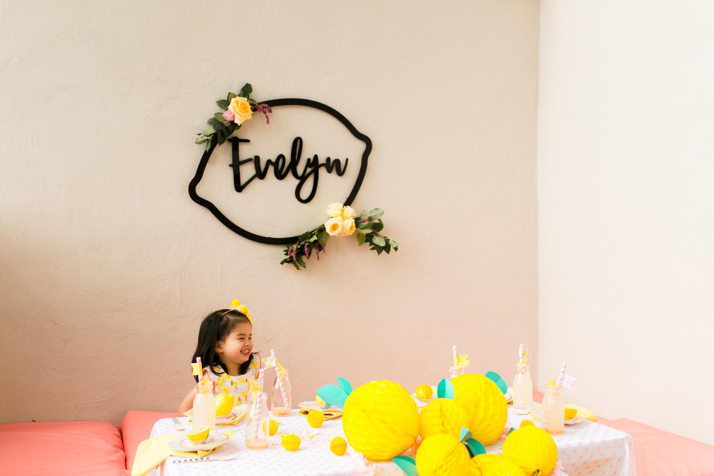 Lemonade Little Girls Birthday Party - Tabletop Decor