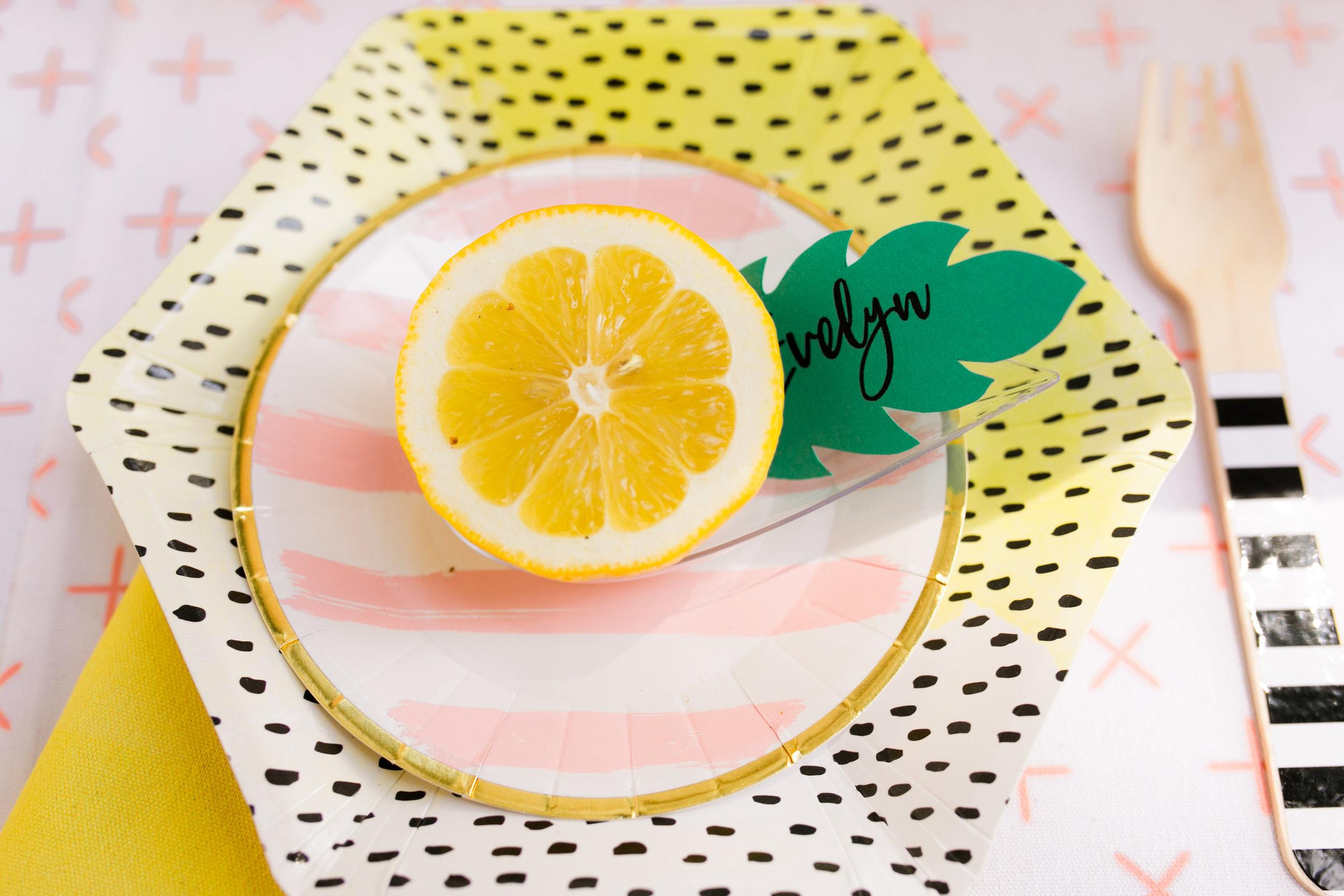 Lemonade Kids Birthday - Place setting Decor